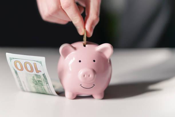 Piggy Bank, concept of saving stock photo