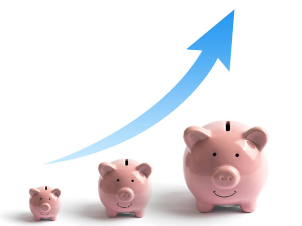 Piggy Bank, concept of savings stock photo