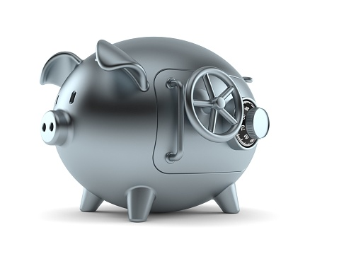Piggy bank concept isolated on white background
