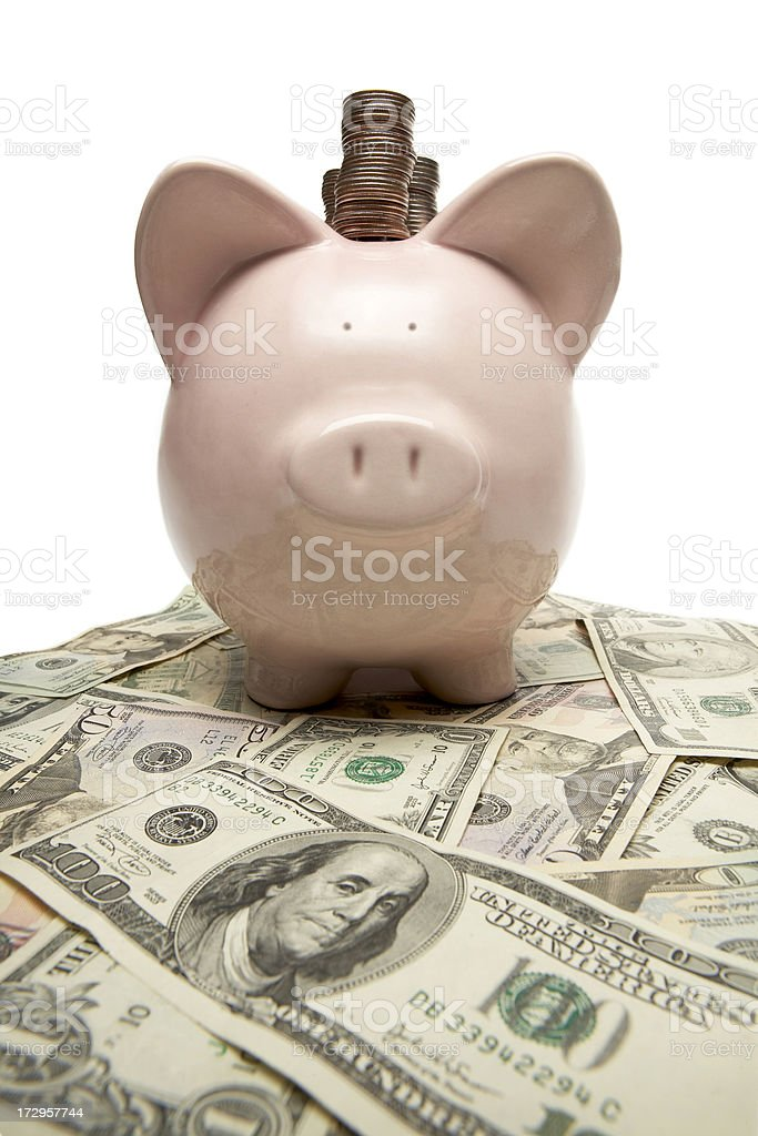 Piggy Bank Distortion royalty-free stock photo