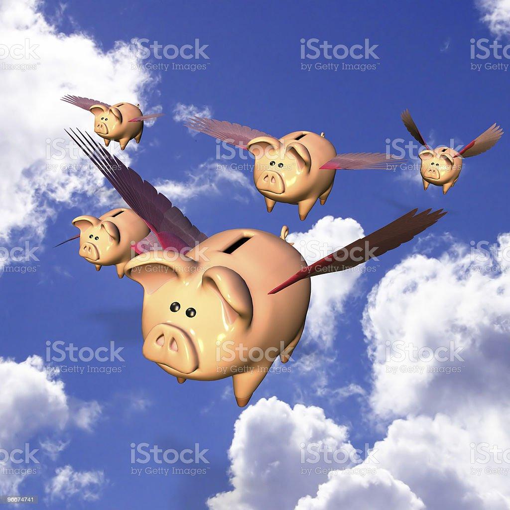 Piggy Bank Exodus royalty-free stock photo