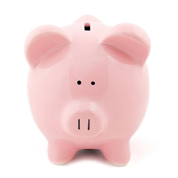 Piggy Bank Facing You stock photo