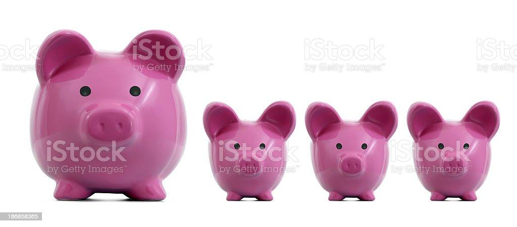 Piggy Bank Family royalty-free stock photo
