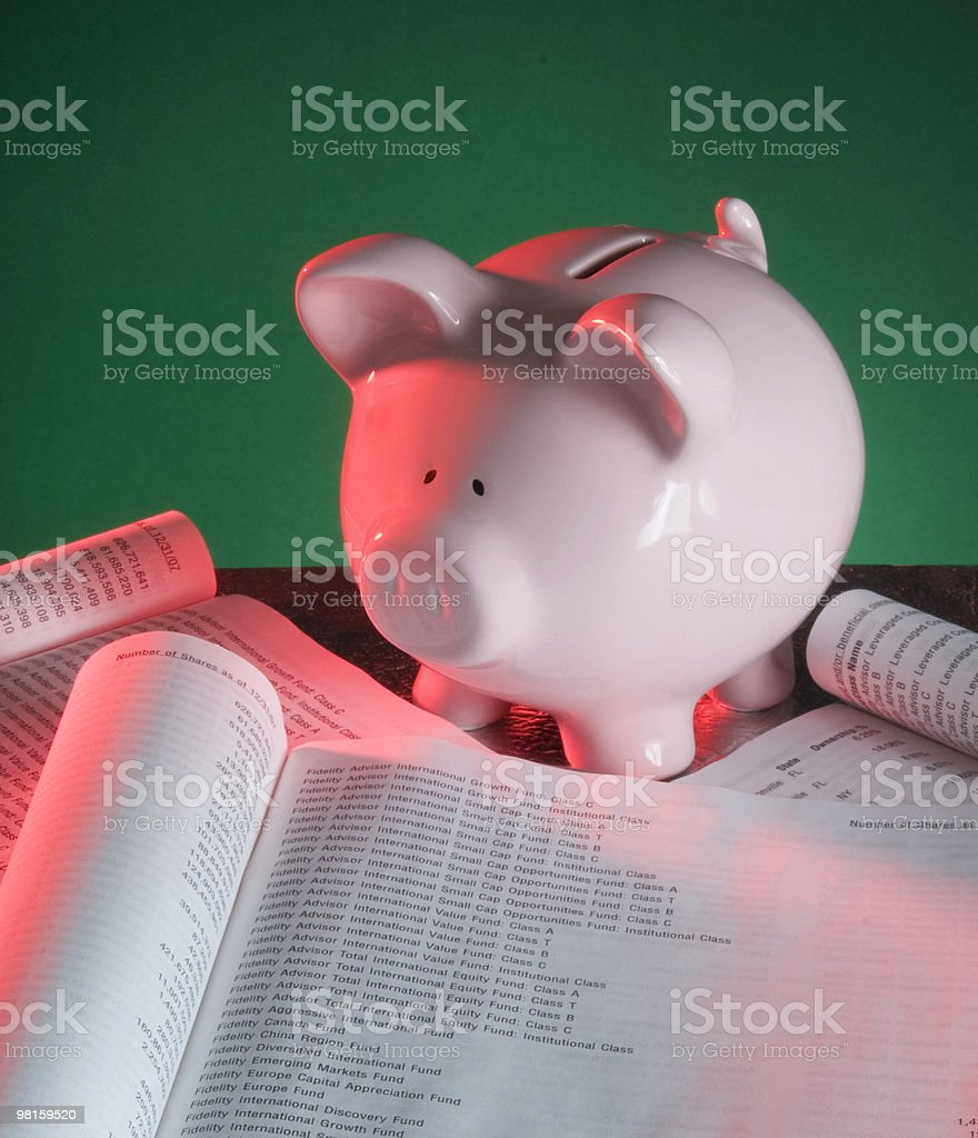 Piggy Bank Financial Investments royalty-free stock photo