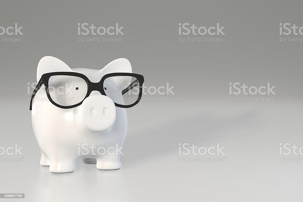 Tirelire en forme de cochon-lunettes - Photo