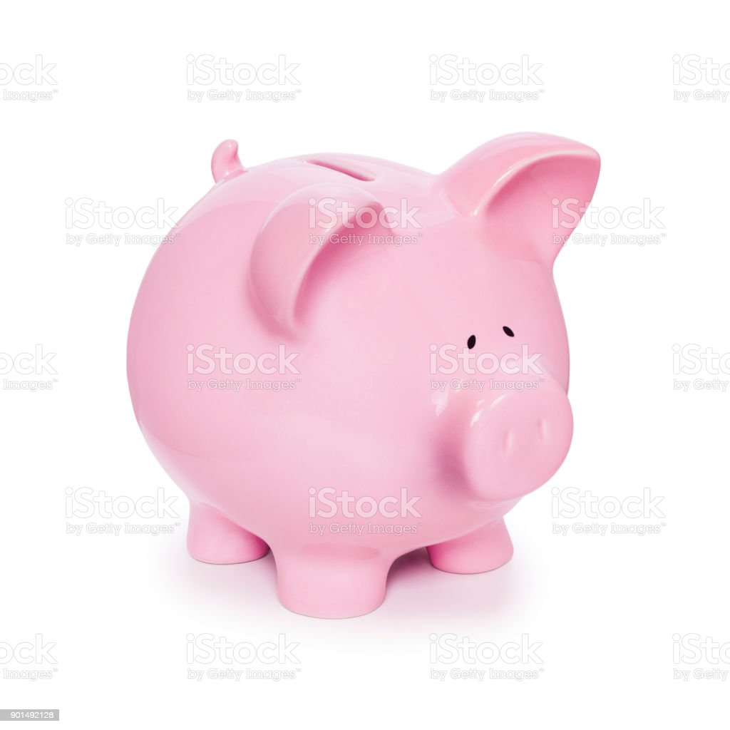 Piggy Bank Isolated on White stock photo