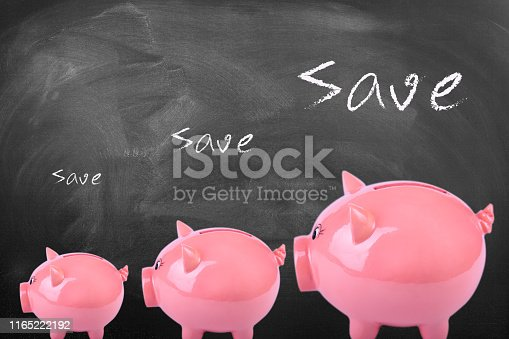 istock Piggy Bank on Blackboard growing savings 1165222192