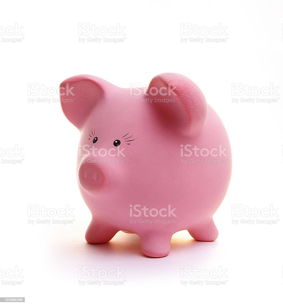 piggy bank Piggy bank isolated on white Coin Stock Photo