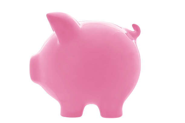 Piggy Bank (with Path) stock photo