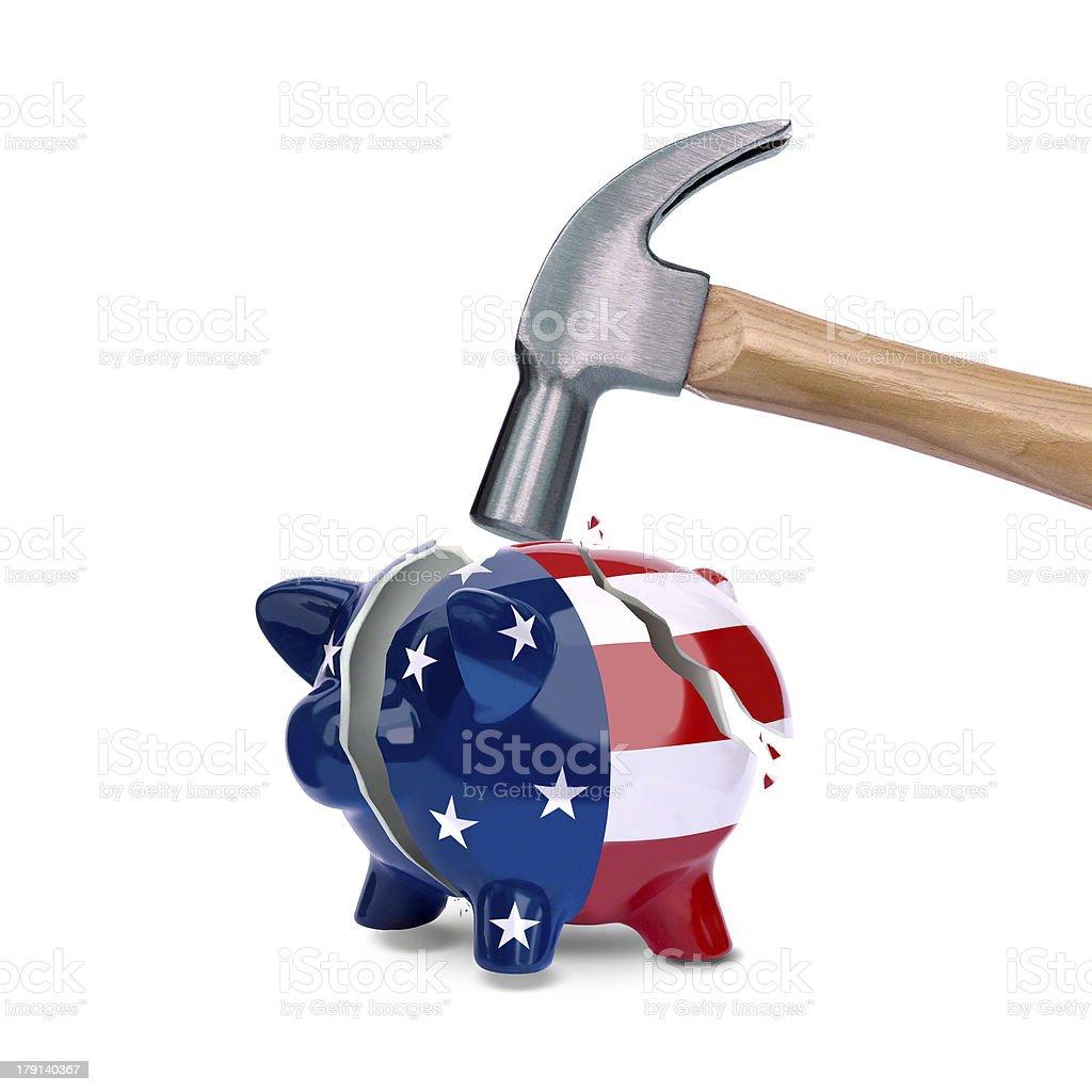 US Piggy Bank stock photo