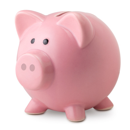 Pink ceramic piggy bank.  Photography isolated on white in high resolution.Some similar pictures from my portfolio: