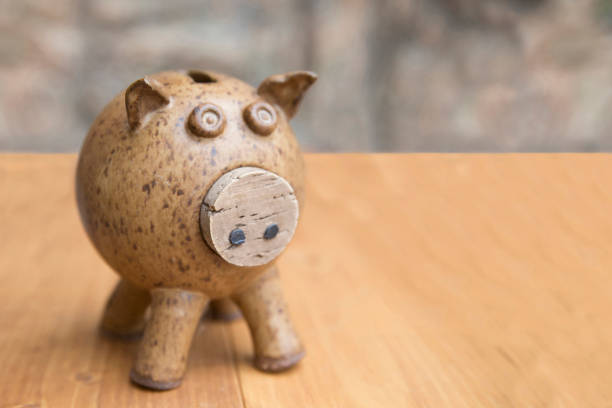A Piggy Bank A handmade pottery piggy bank jude beck stock pictures, royalty-free photos & images