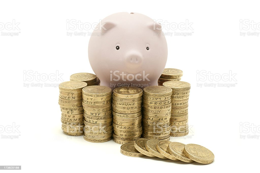 piggy bank pile royalty-free stock photo