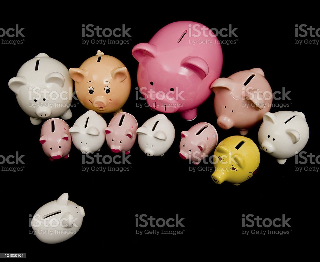 Piggy Bank, Savings and Finance royalty-free stock photo