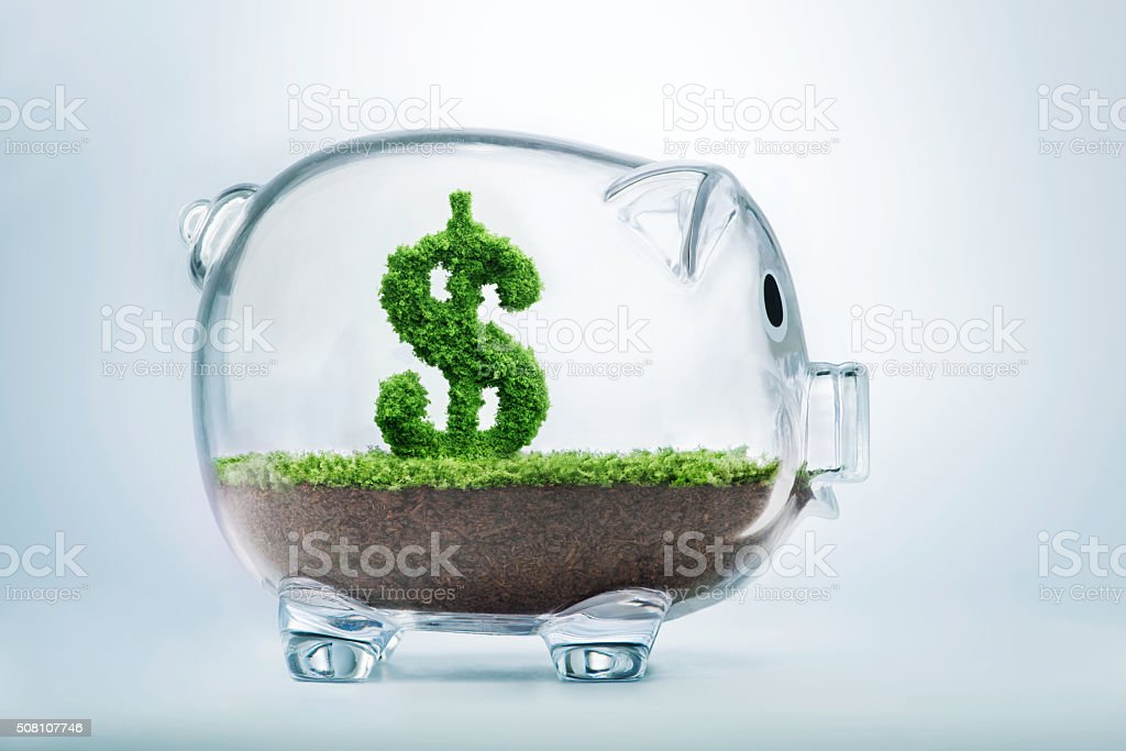 Piggy bank savings stock photo