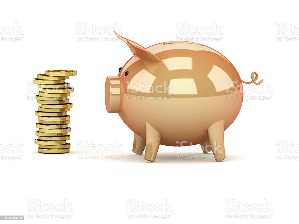 Piggy bank style money box royalty-free stock photo