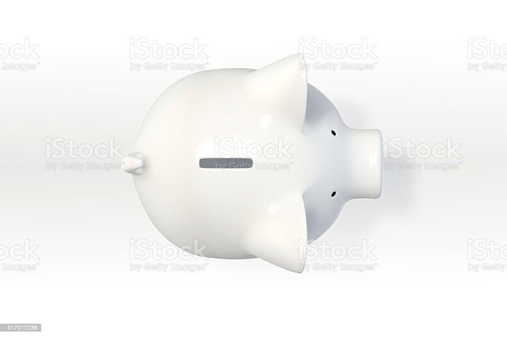 Tirelire en forme de cochon-Vue du haut (1) - Photo