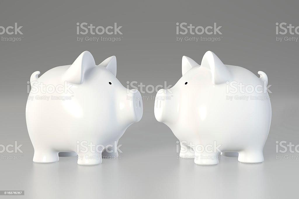 Tirelire en forme de cochon-vis à vis - Photo