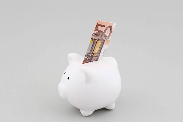Sparschwein mit europäischen Währung – Foto