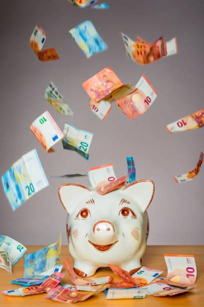 Sparschwein mit deutschem Geldfall – Foto