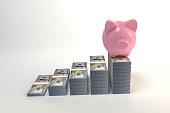 istock Piggy Bank with money 1170020384