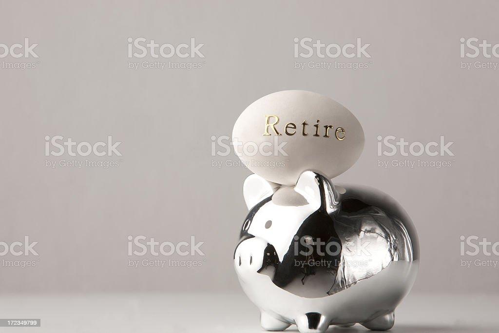 Alcancía con nest egg para la jubilación foto de stock libre de derechos