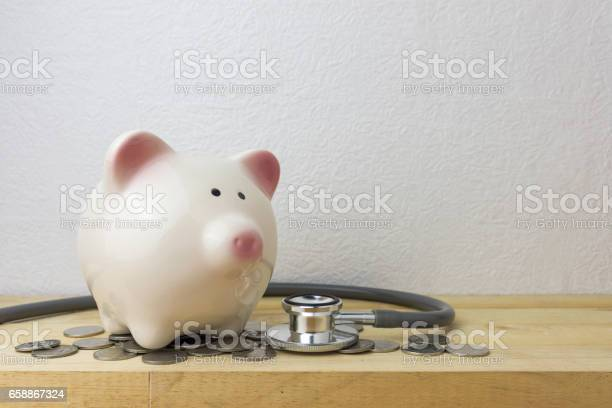 Piggy bank with stethoscope and coins picture id658867324?b=1&k=6&m=658867324&s=612x612&h=m499yqcea 3punb7b3bjrh7efidvatce 9j69hbyyt8=