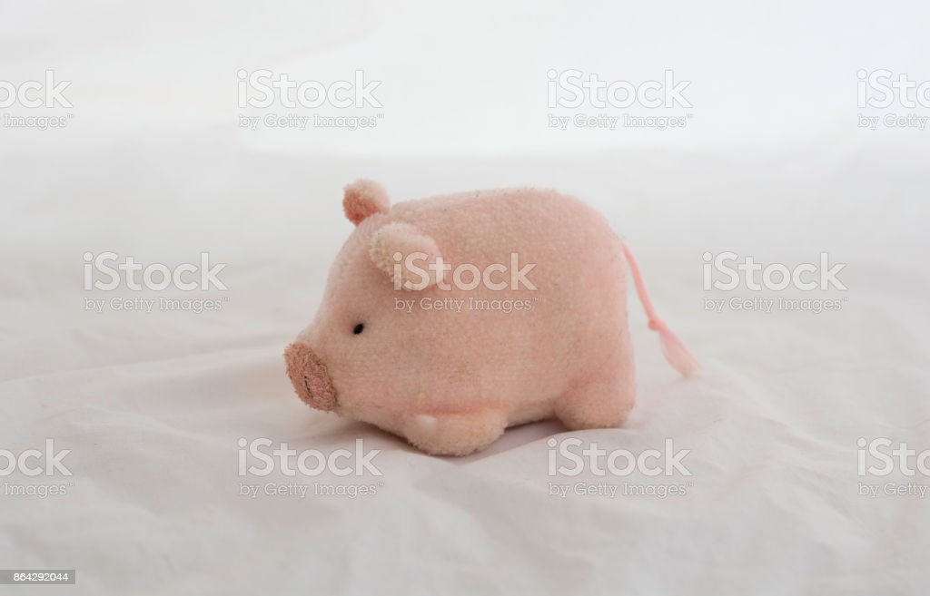 piggy Dolls  on a white background royalty-free stock photo