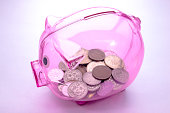 貯金箱ピンク