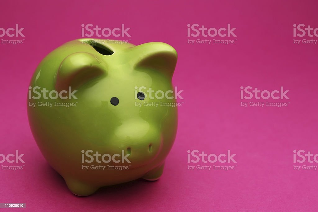 piggy pink royalty-free stock photo