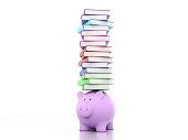 istock Piggy with Books 625897000
