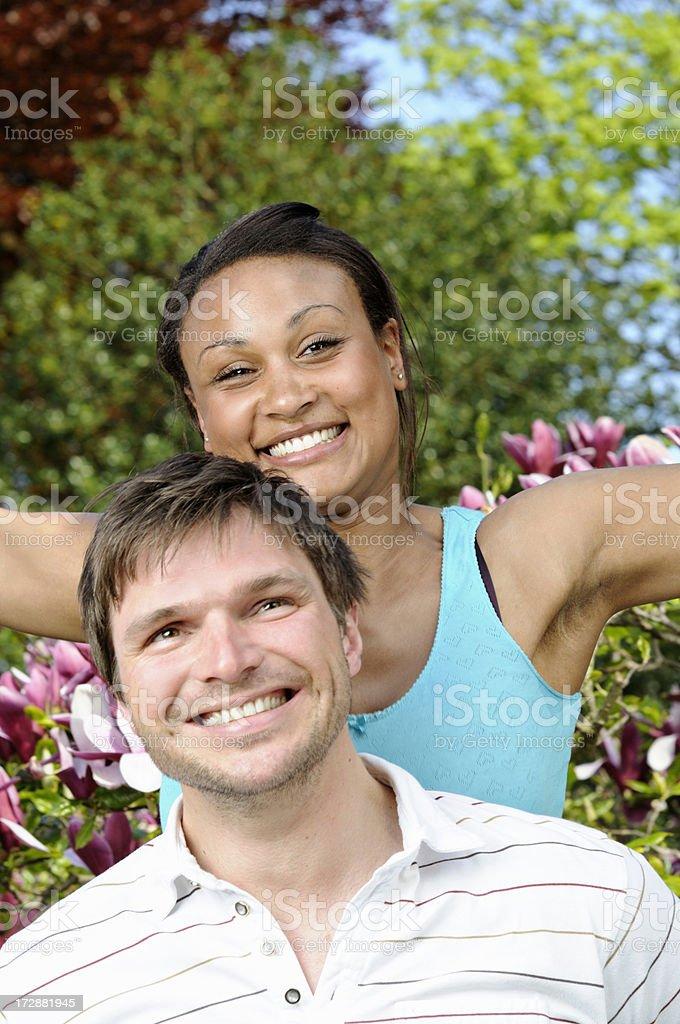 piggyback fun couple royalty-free stock photo