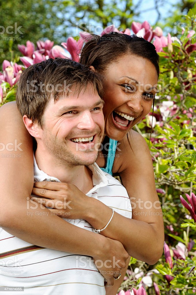 piggyback love royalty-free stock photo