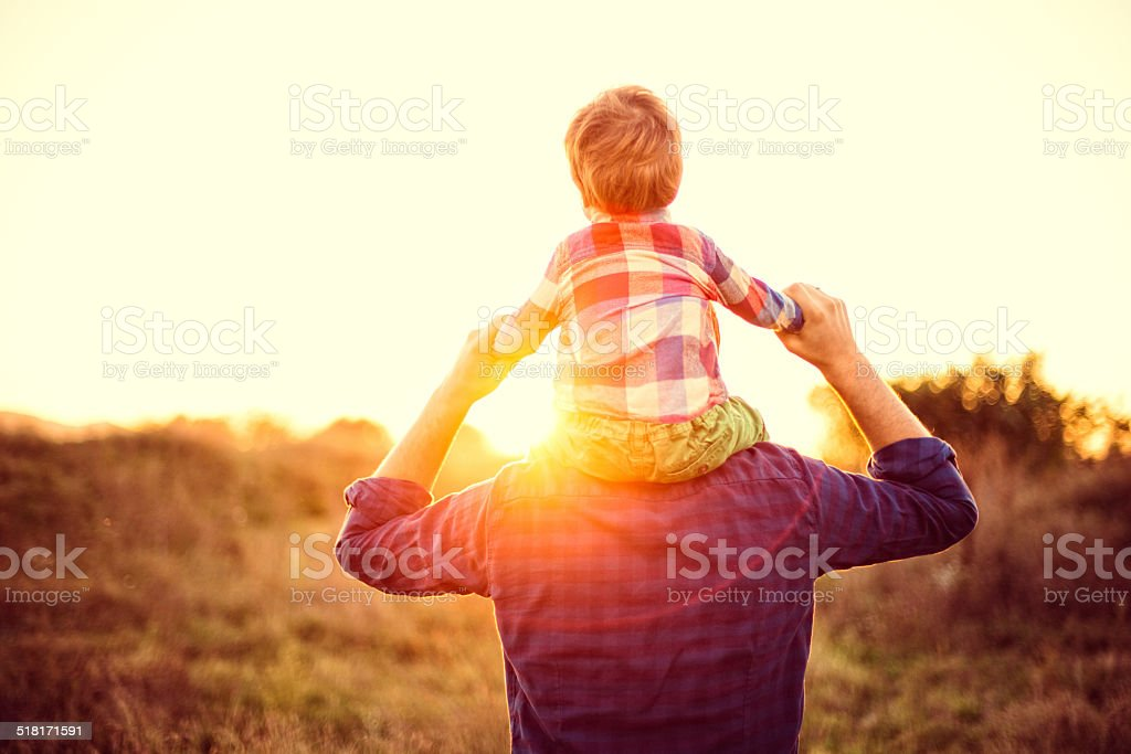 Piggyback ride - Royalty-free 12-23 Months Stock Photo