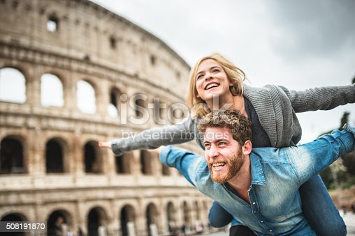 istock piggybacking for st. valentine in rome 508191870
