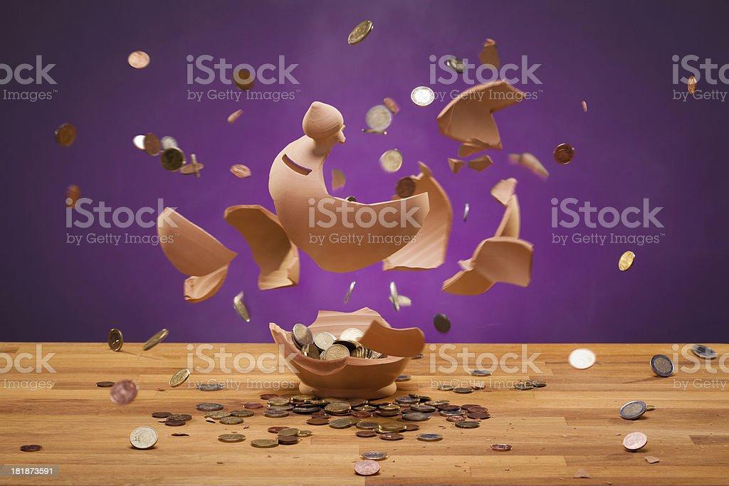 Piggybank Exploding stock photo