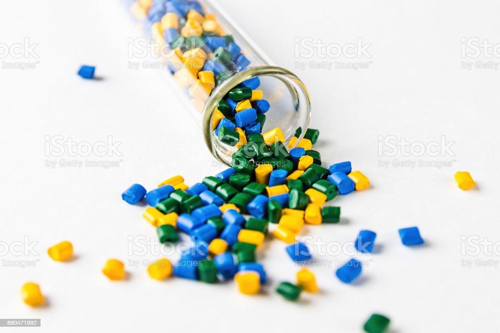 Fotografía de En Los Gránulos Del Pigmento Pellets De Plástico ...