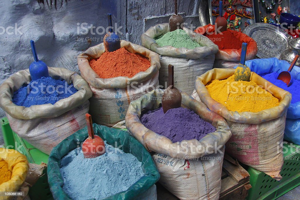 Pigment of Morocco royalty-free stock photo