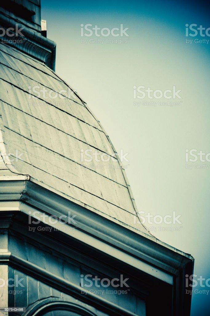 Pignon, tôle à la canadienne, acier galvanisé stock photo