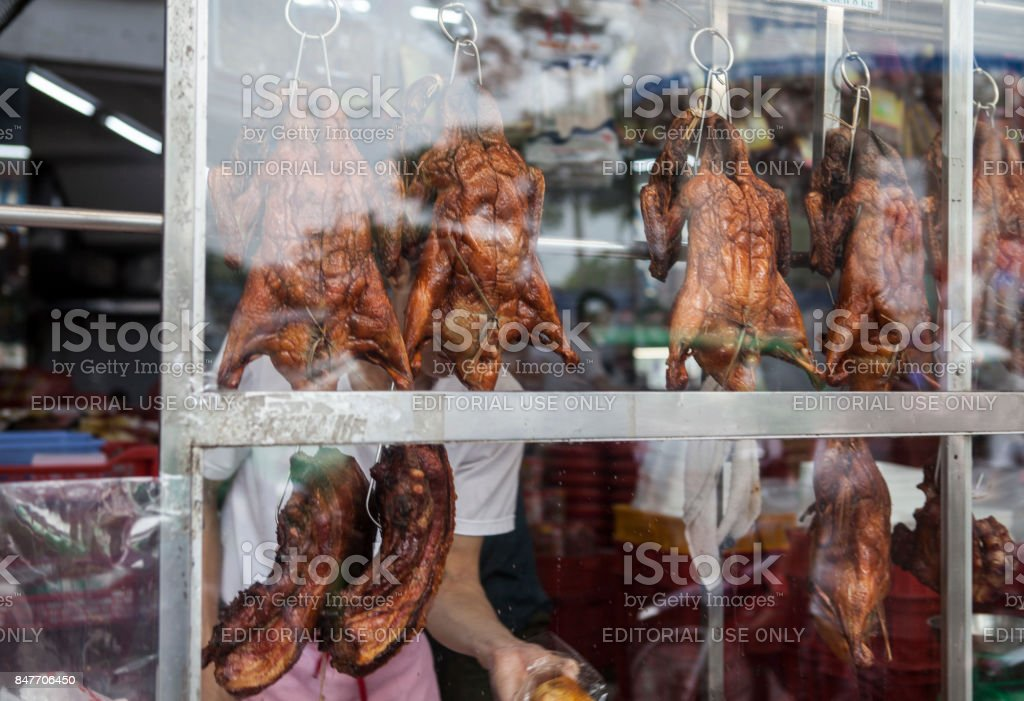 Pigs And Ducks For Sale In Hanoi stock photo