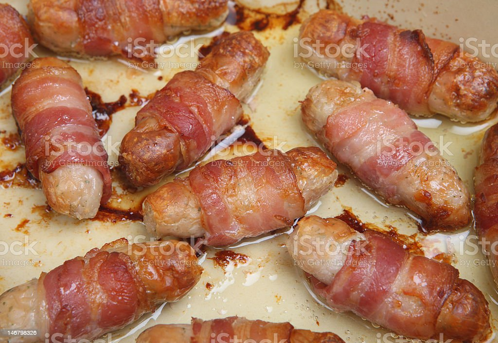 Pigs in Blankets royalty-free stock photo