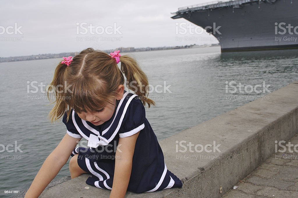 Pigtails and Warships - Royalty-free 2-3 jaar Stockfoto