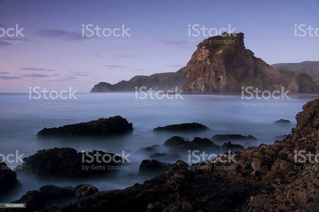 Piha Beach - Lion Rock royalty-free stock photo
