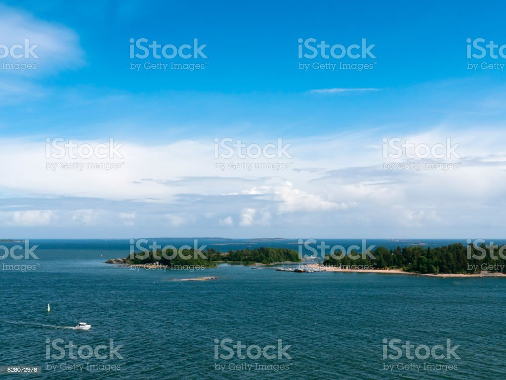 Pihlajasaari - Islands near Helsinki, Finland stock photo