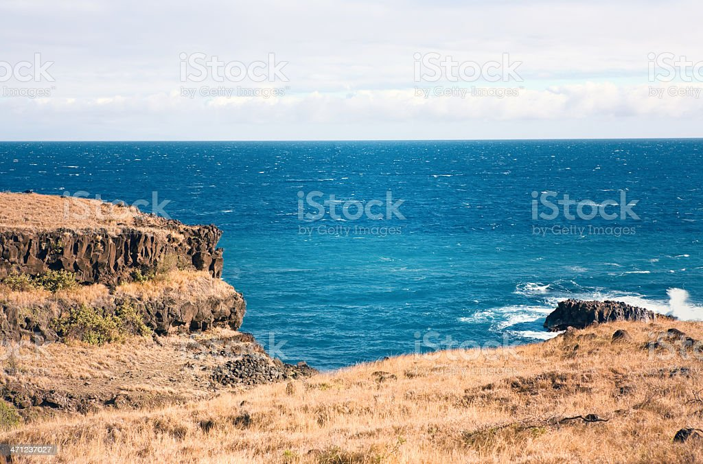 Pi'ilani Highway Coastline royalty-free stock photo