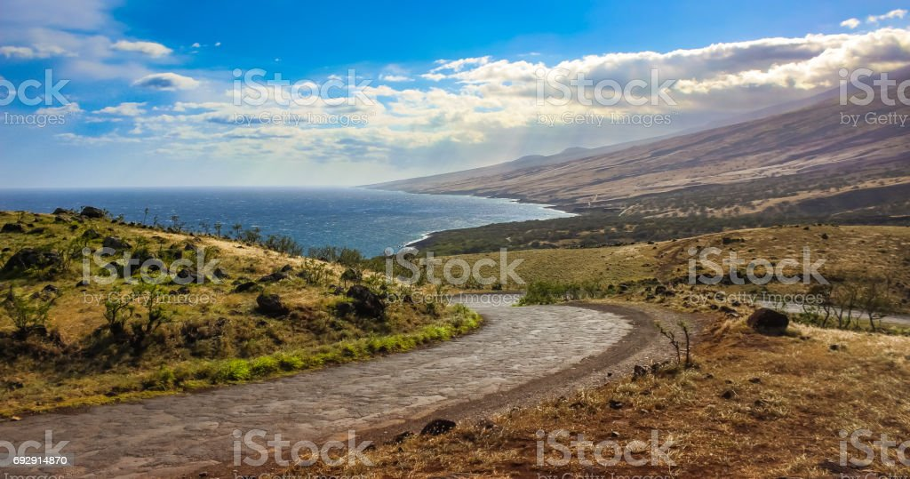Piilani Highway, Maui stock photo