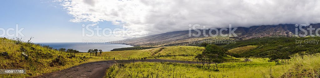 Piilani Highway XXL Panorama - Maui, Hawaii stock photo