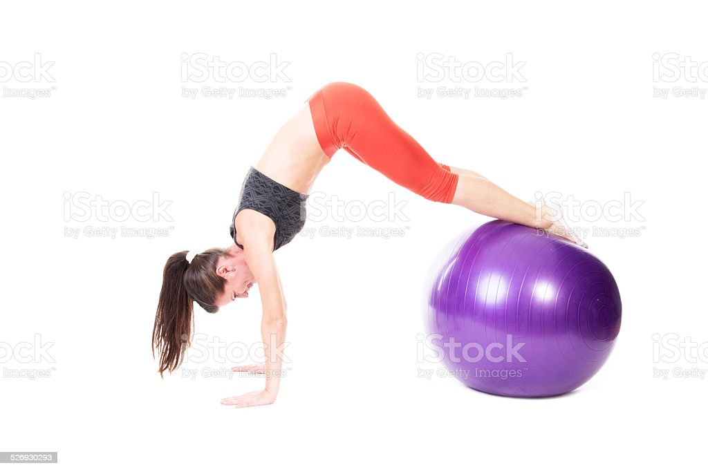 Pike on Exercise Ball stock photo