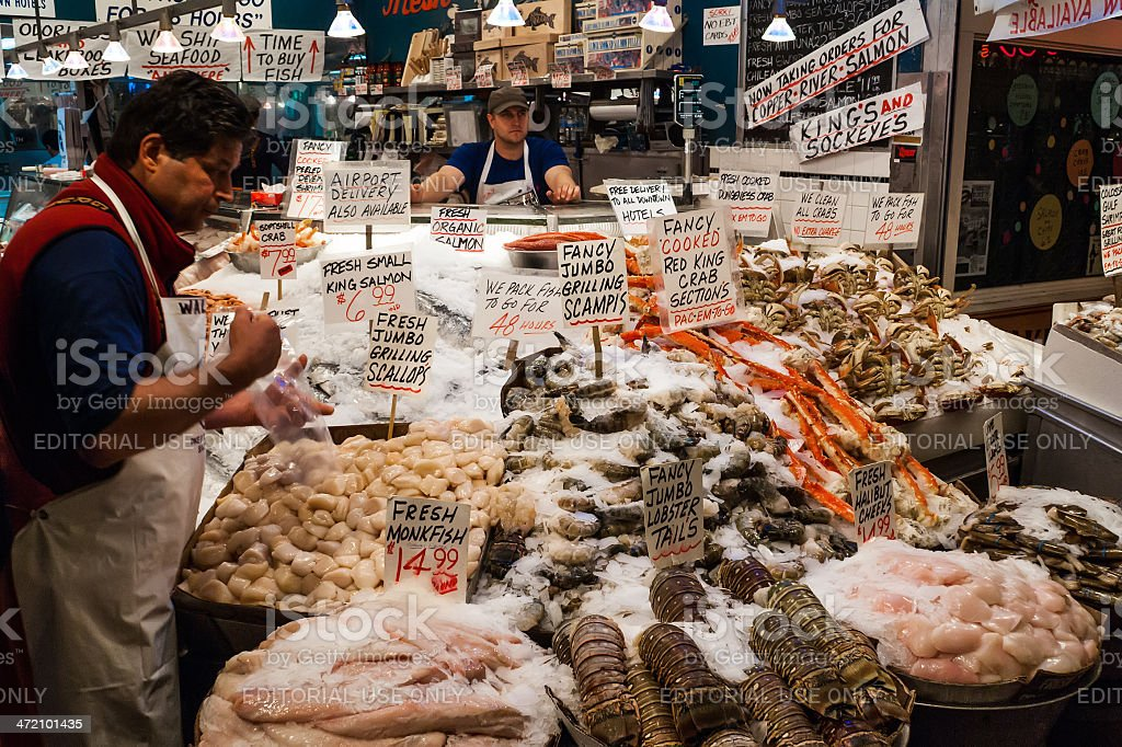 Pike Place Market in Seattle, WA stock photo