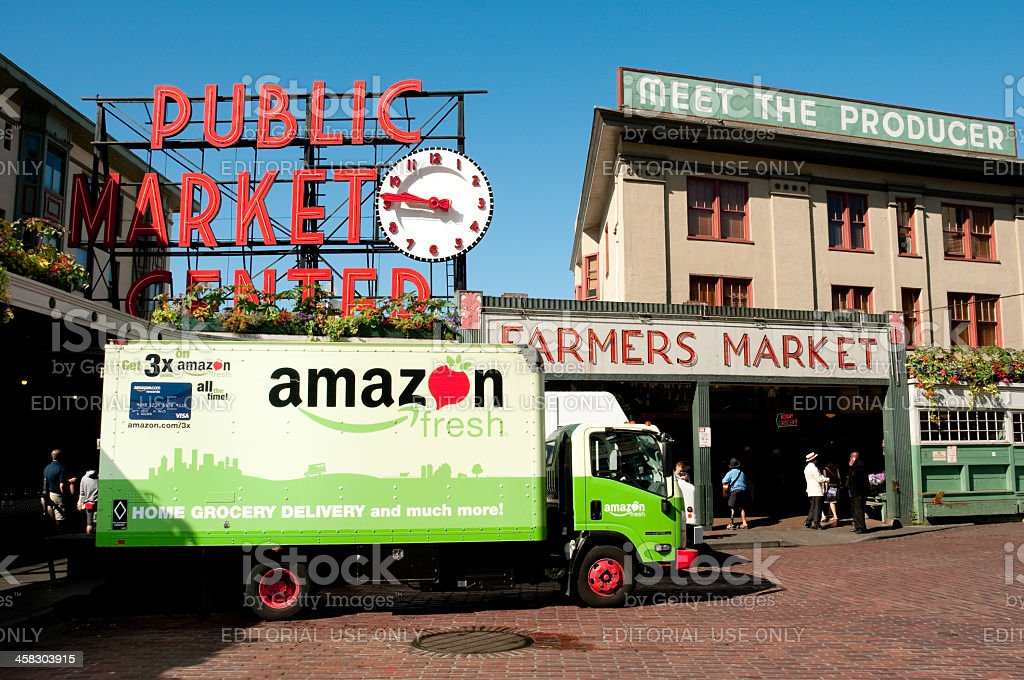 Pike Place Market royalty-free stock photo